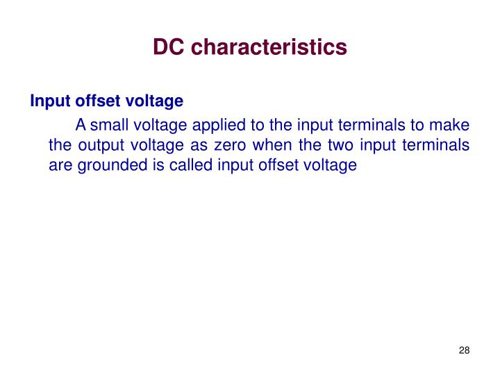 DC characteristics