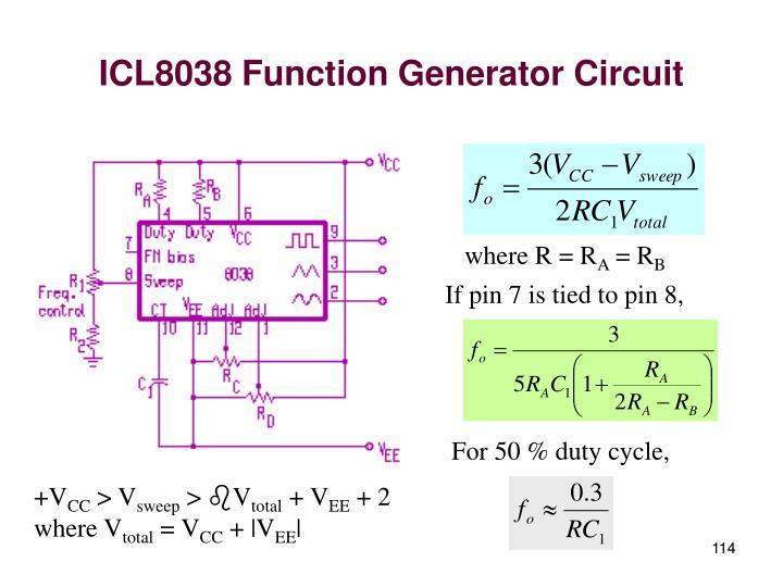 ICL8038 Function Generator Circuit