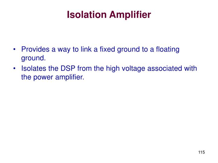 Isolation Amplifier