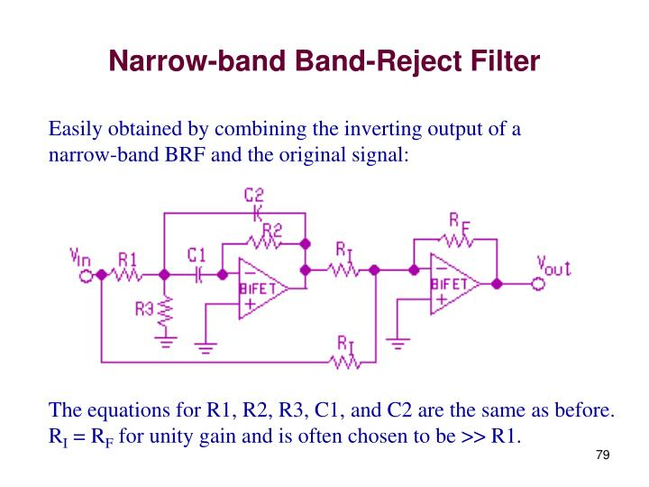 Narrow-band Band-Reject Filter