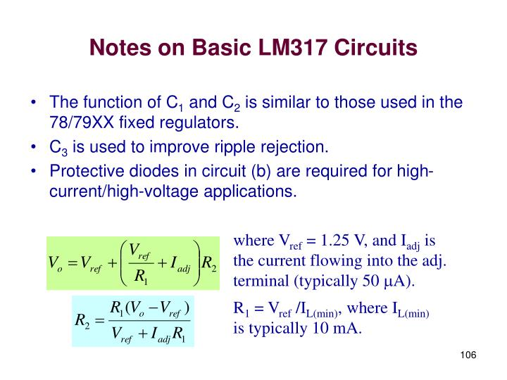 Notes on Basic LM317 Circuits