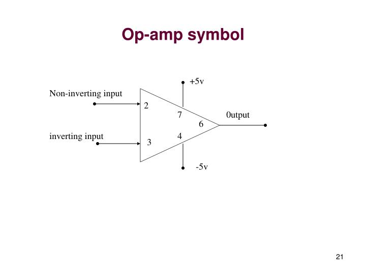 Op-amp symbol