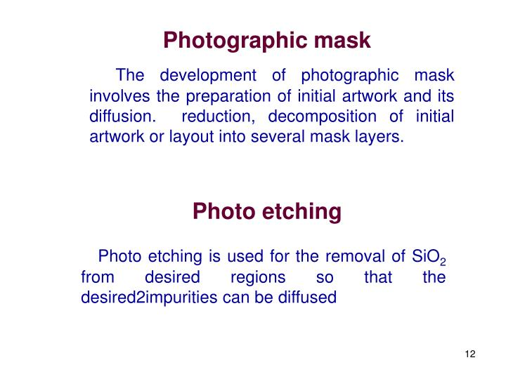 Photographic mask