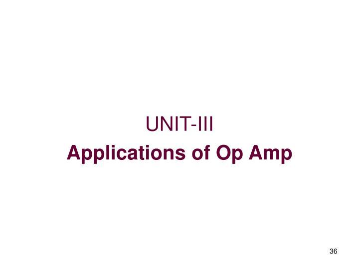 UNIT-III