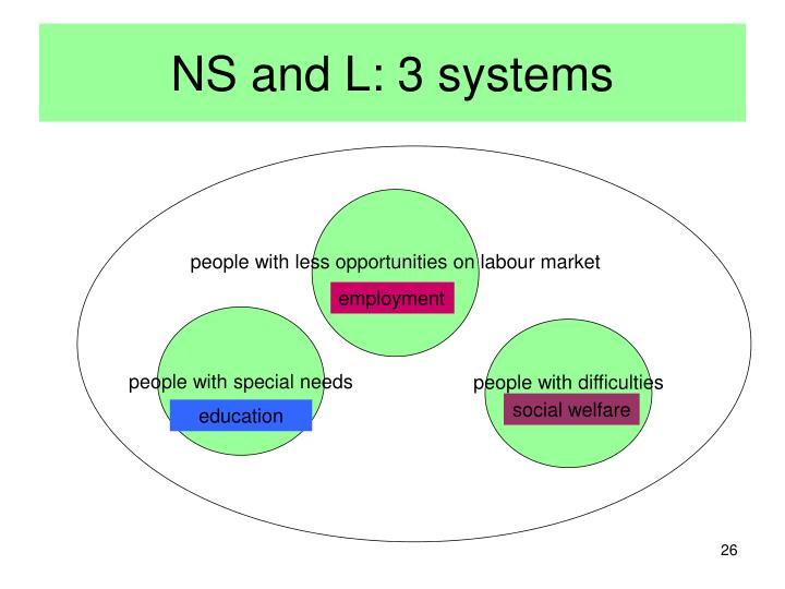 NS and L: 3 systems