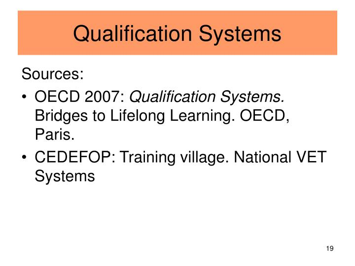 Qualification Systems