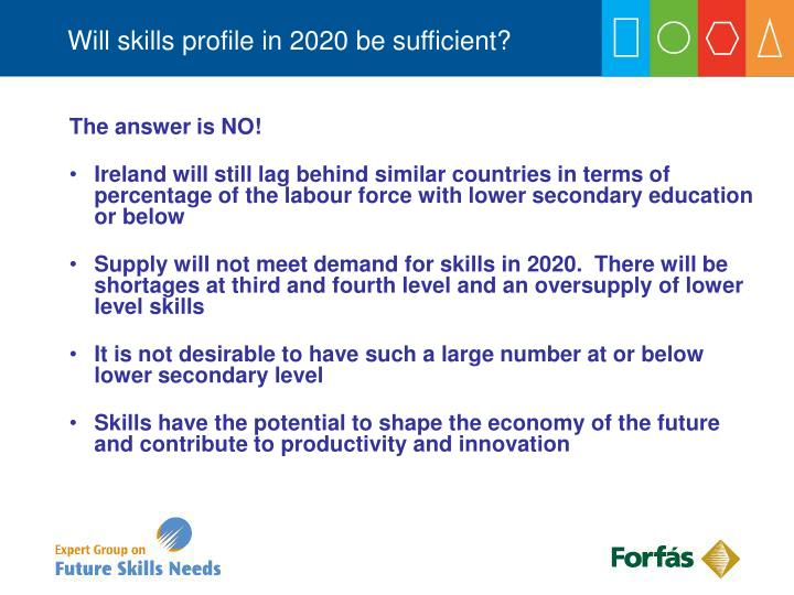 Will skills profile in 2020 be sufficient?