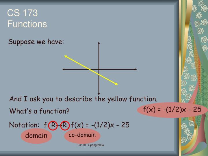 f(x) = -(1/2)x - 25