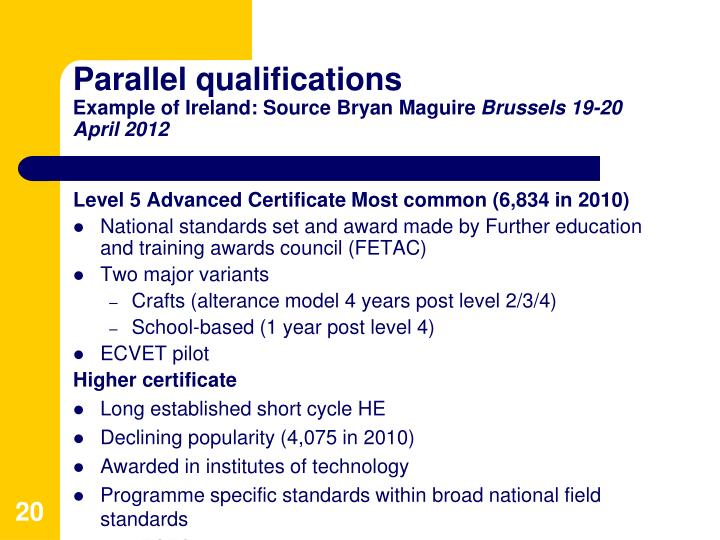 Parallel qualifications