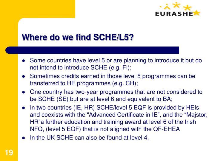 Where do we find SCHE/L5?