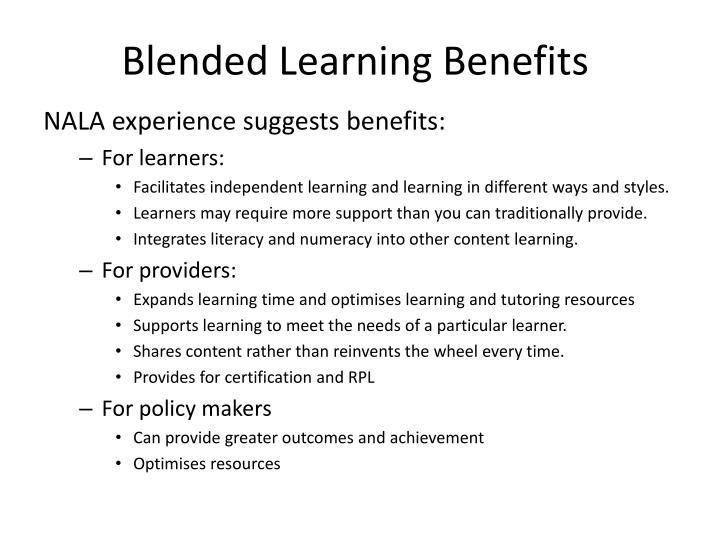 Blended Learning Benefits