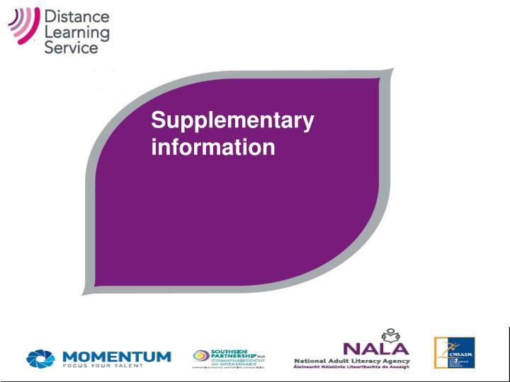 Supplementary information