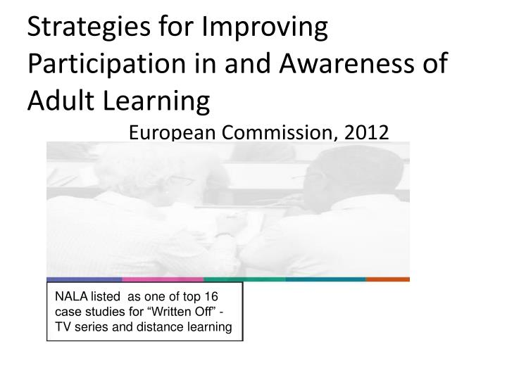 Strategies for Improving Participation in and Awareness of Adult Learning