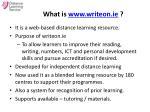what is www writeon ie