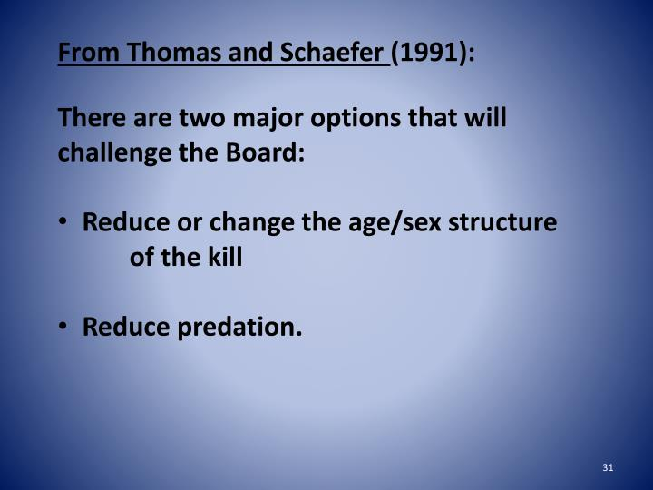 From Thomas and Schaefer