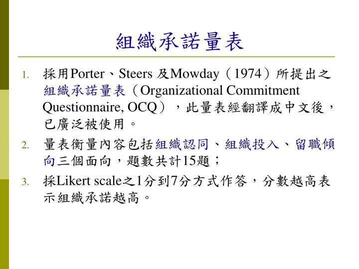 組織承諾量表