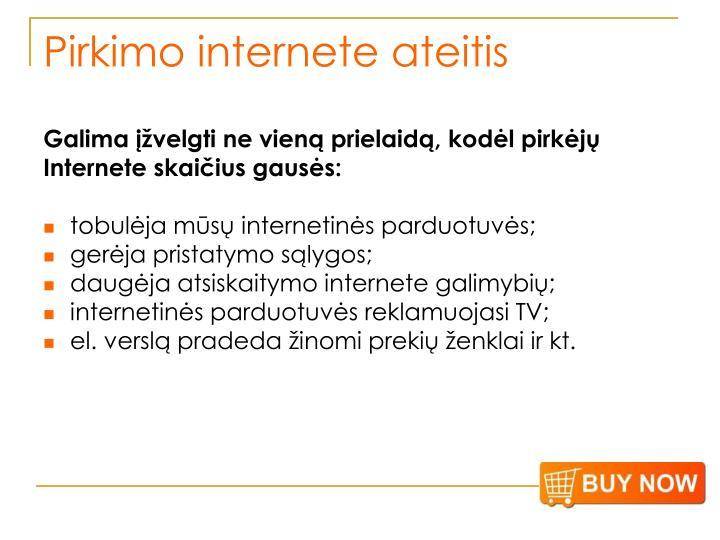 Pirkimo internete ateitis