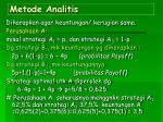 metode analitis