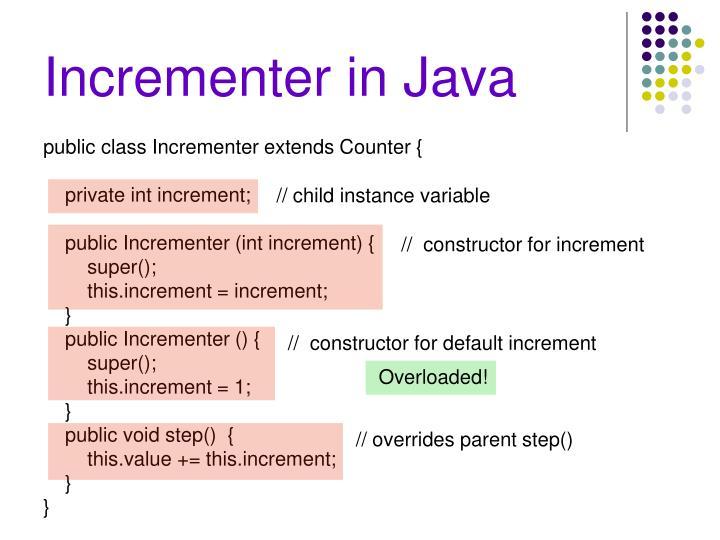 Incrementer in Java