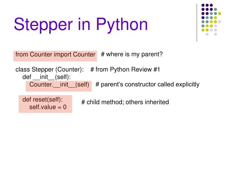 Stepper in Python