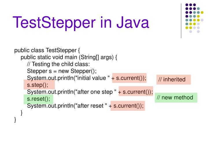 TestStepper in Java