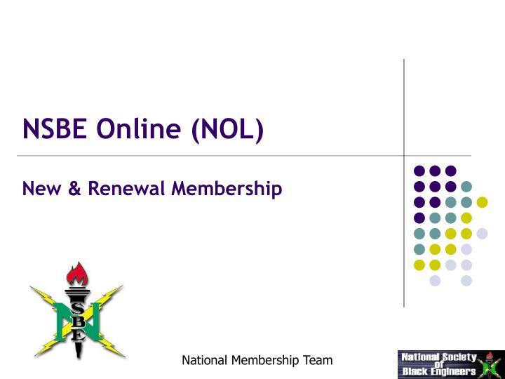 new renewal membership