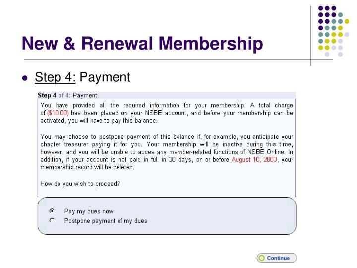 New & Renewal Membership