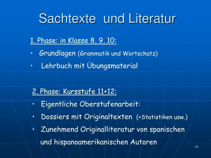Sachtexte  und Literatur