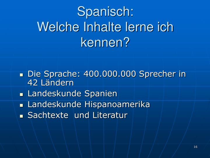 Spanisch: