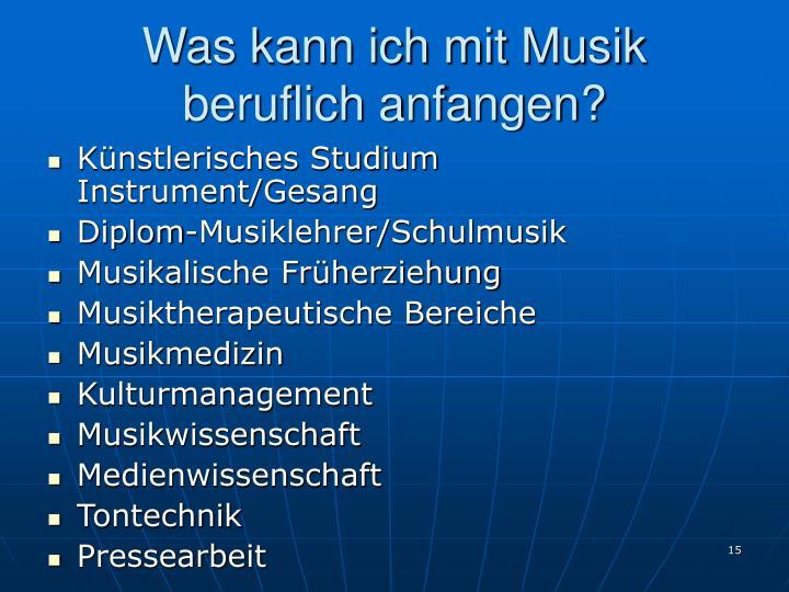 Was kann ich mit Musik beruflich anfangen?