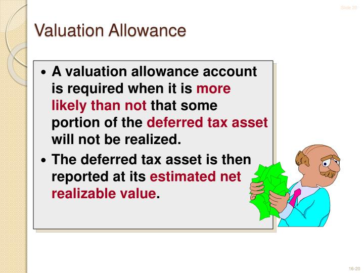 A valuation allowance account is required when it is