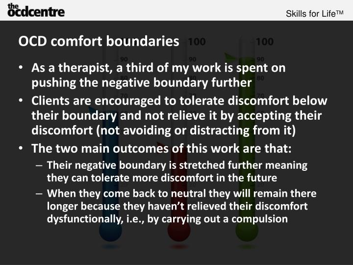 OCD comfort boundaries