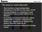 the nature vs nurture discussion