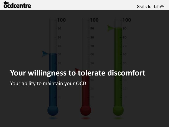 Your willingness to tolerate discomfort