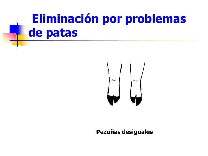 Eliminación por problemas de patas