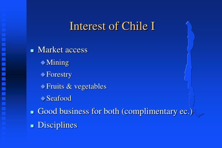Interest of Chile I