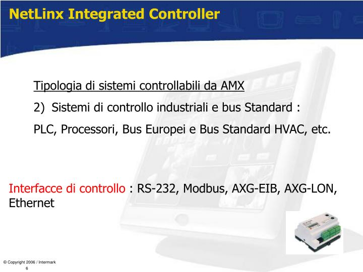 NetLinx Integrated Controller