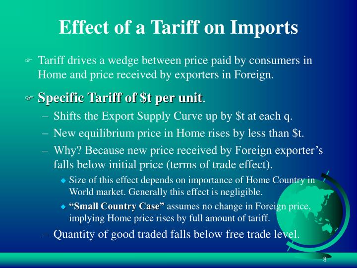 Effect of a Tariff on Imports
