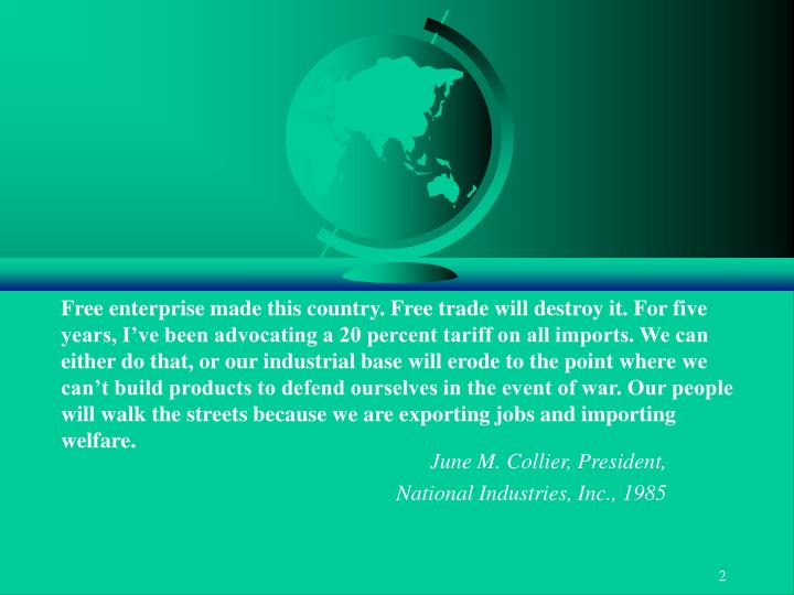 June m collier president national industries inc 1985