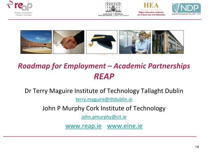 Roadmap for Employment – Academic Partnerships