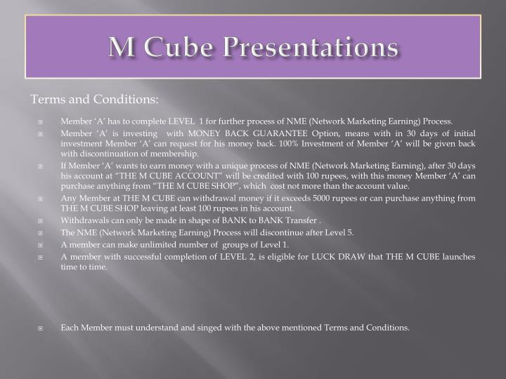 M Cube Presentations