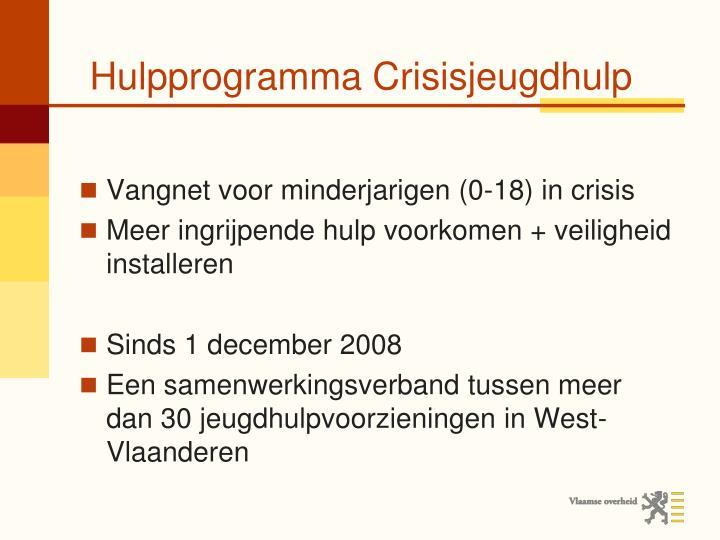 Hulpprogramma Crisisjeugdhulp