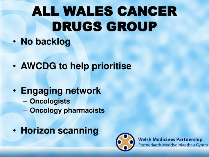 ALL WALES CANCER