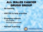 all wales cancer drugs group