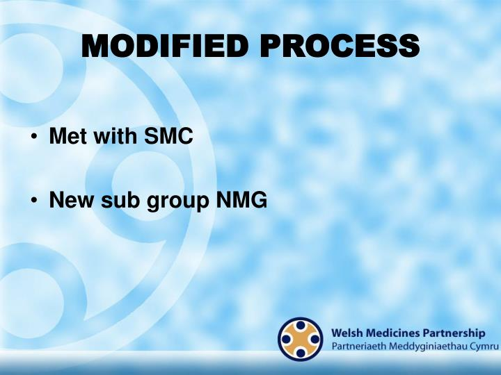 MODIFIED PROCESS