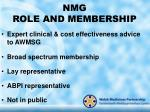 nmg role and membership