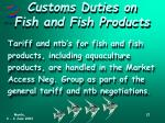 customs duties on fish and fish products1