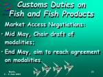 customs duties on fish and fish products2