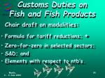 customs duties on fish and fish products3