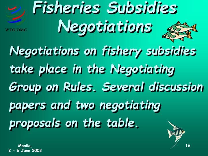 Fisheries Subsidies Negotiations